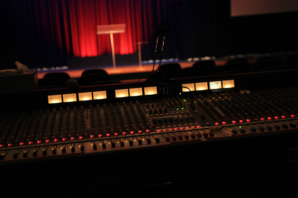 Northside Conference Centre Sound Desk