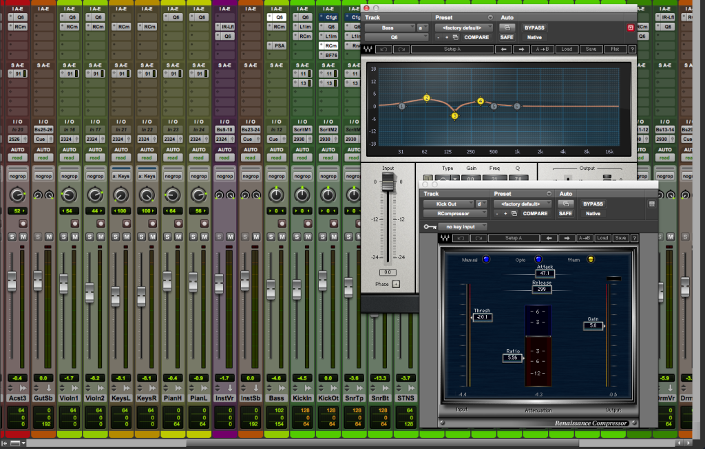 Screen Shot 4 - Initial Mix and Plugins