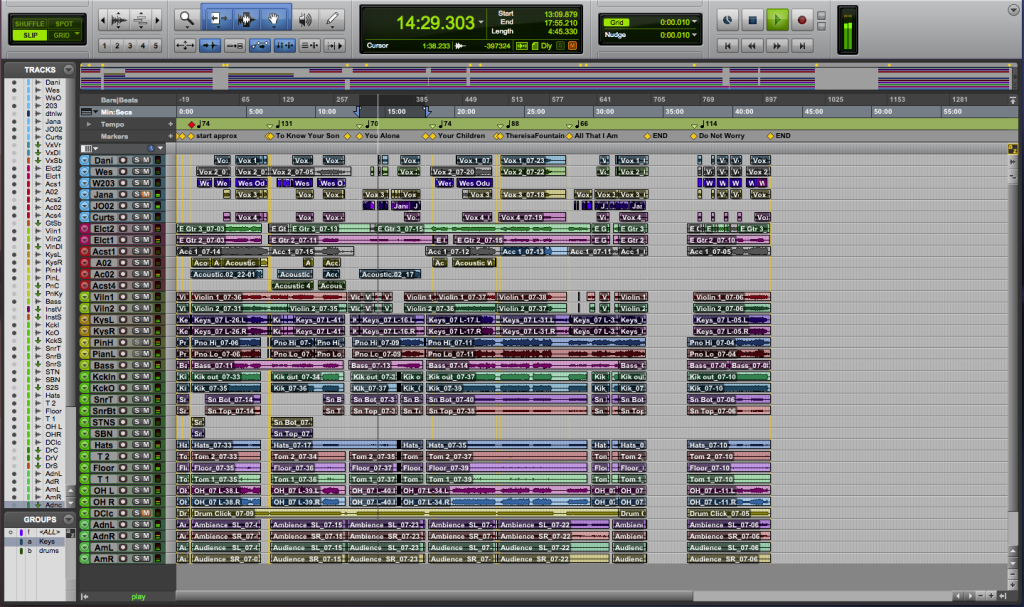 Screen Shot 5 - Barneys session post overdubs and editing