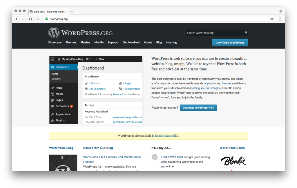 Wordpress.org site
